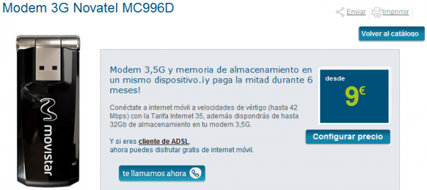 Modem 3G Novatel MC996D Movistar 600x267