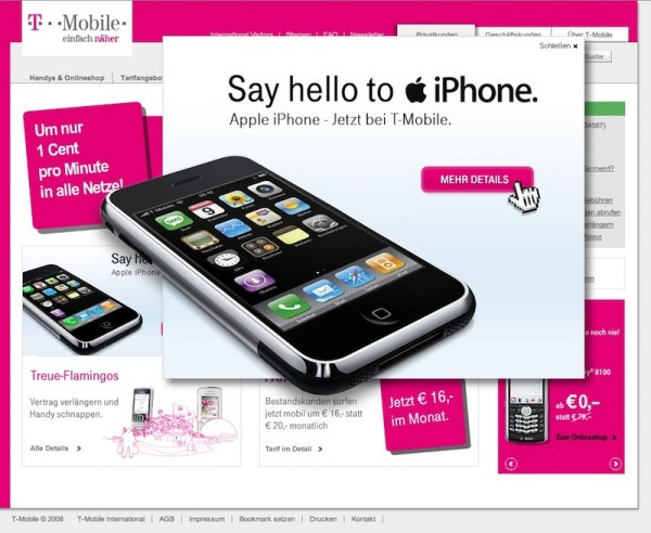 Reserva iPhone 5 t mobile 600x492
