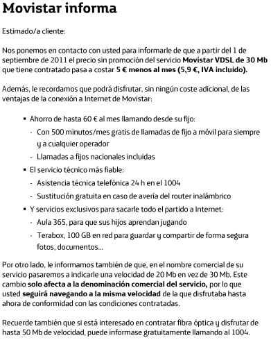 carta vdsl 20 mb movistar