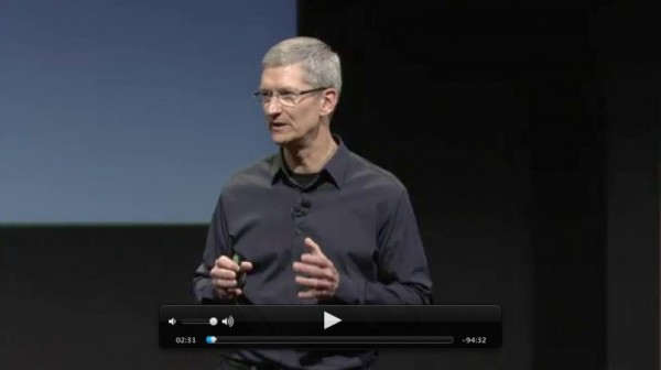 Keynote Apple iPhone 4S Tim Cook 600x336
