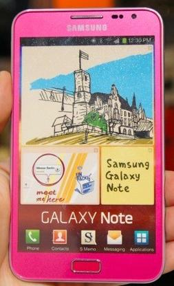 Samsung Galaxy Note Color Rosa