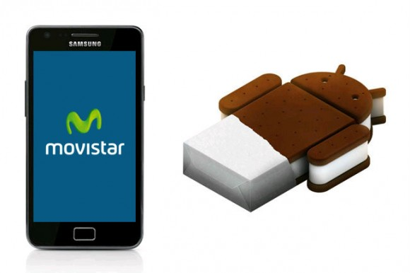Samsung Galaxy SII Movistar Android 4.0 Ice Cream Sandwich 580x386