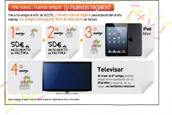 Plan Amigo 50 iPad mini televisor