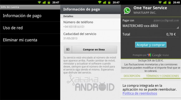 WhatsApp cobros Google Play
