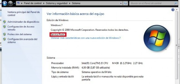 Windows 7 SP1 Actualización