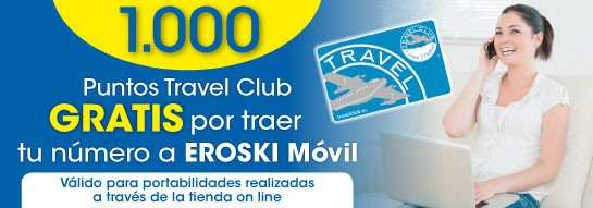 Puntos Travel Club Eroski Móvil