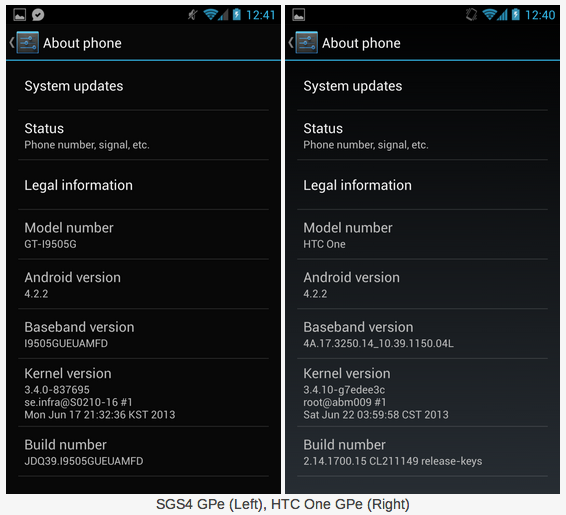 Anandtech Google Play Edition HTC One Galaxy S4