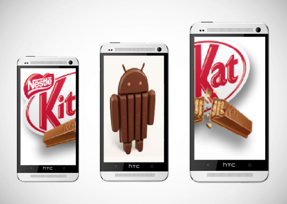 HTC One KitKat 580x413