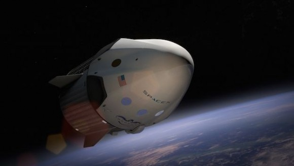 dragon v2 en órbita SpaceX